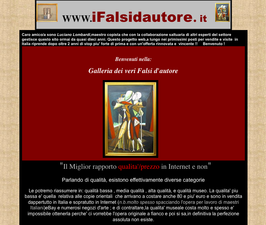 Falsi d´autore a napoli roma milano - Raffaele Di Dato - i falsi d ...